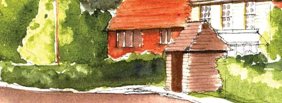 Painting of village houses