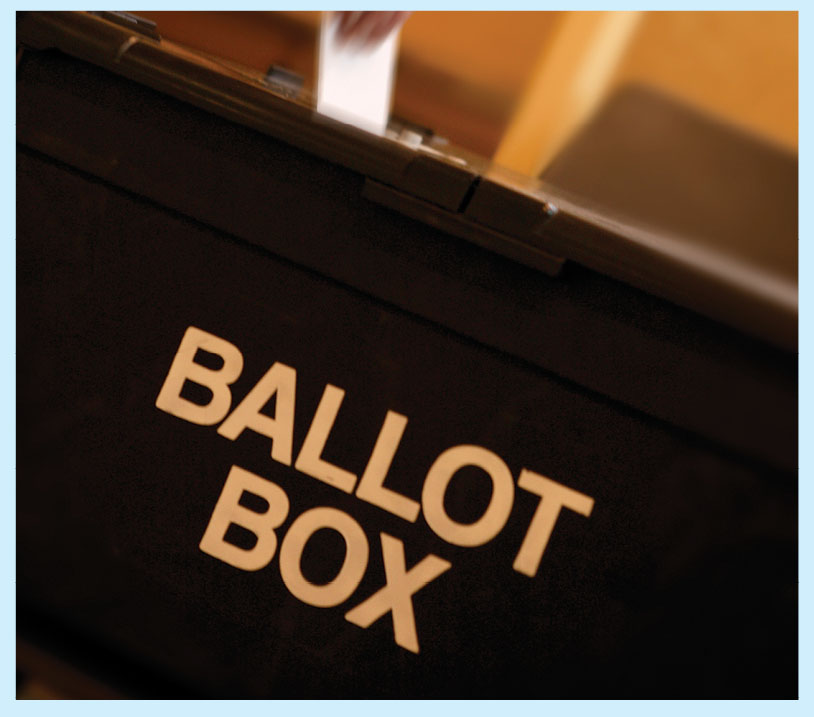 Image to draw attention to local elections featuring the phrase Ballot Box
