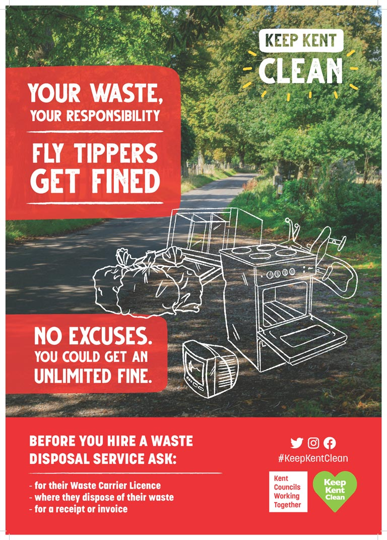 Poster warning of legal ramifiactions of fly tipping